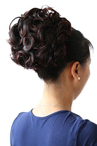 PRETTYSHOP Dutt Haarteil Zopf Haarknoten Hepburn-Dutt Haargummi Hochsteckfrisuren dunkelbraun mix #1T33B HK110