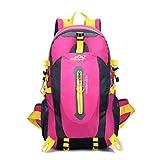 Sacchetto Escursionistico Ampia Capacità Outdoor Sport Ricreativi Di Montagna Zaino Spalla Uomo E Bagaglio Di Donne,Rosa