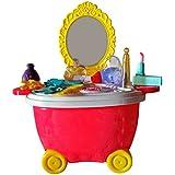 Toyshine Bucket Cum Trolley Beauty Play Cart Pretend Play Set Toy