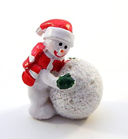 Melody Jane Dolls House Mini Snowman Snowball Ornament Miniature Christmas Cake Accessory