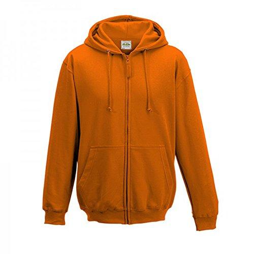 AWDis Herren Reißverschluss Kapuzen Pullover Jacke Orange Crush