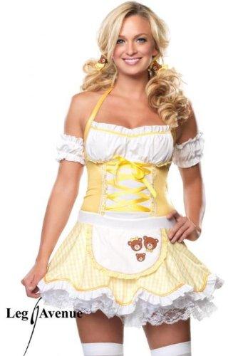 Leg Avenue - Storybook Goldilocks Kostüm 2-teilig - 83483, (Erwachsene Goldilocks Kostüme)
