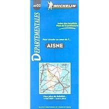 Carte routière : Aisne, 4002, 1/150000
