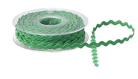 5mm Ric Rac Ribbon Braid Trimming Ricrac Metre Choice of Colours DIY Sewing Trim (Green) By Accessories