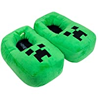 Minecraft Creeper Kids/Boys 3D Green Slipper