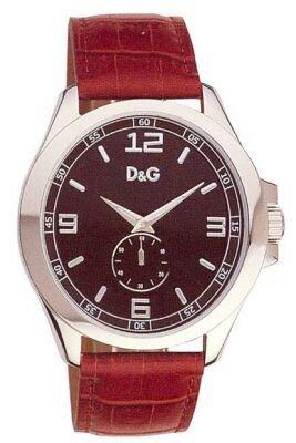 D&G Dolce&Gabbana DW0039 – Reloj analógico de caballero de cuarzo con correa de piel marrón