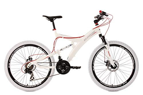 KS Cycling Fahrrad Mountainbike Fully Topspin RH 51 cm, Weiß/Rot, 26 Zoll, 187M
