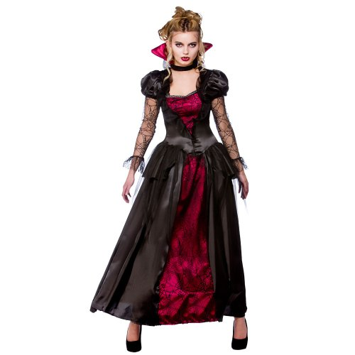 (XS) Damen VAMPIRE Queen Halloween Kostüm für Fancy Dress Damen XS