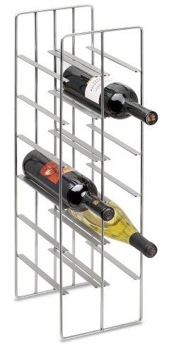 Blomus 68486 Pilare Weinflaschenregal für 12 Flaschen, stahl matt vernickelt
