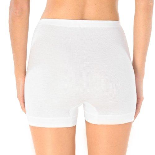 SCHIESSER Damen Pagenslip Panty Feinripp 2er Pack Weiß (100-weiss)