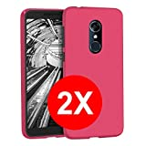TBOC 2X Pink Ultra Thin TPU Silicone Gel Case for Alcatel