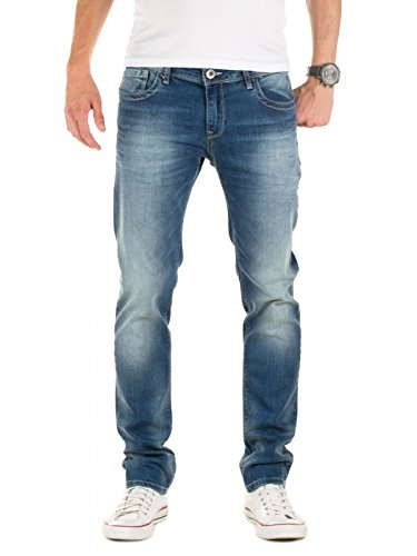 WOTEGA Herren Jeans Alistar slim fit, Blau (Dark Denim 194118), W32/L32 (Fit Slim Denim Jean Dark)
