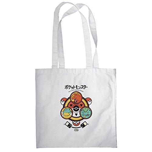 Texlab–Poke Trainer–sacchetto di stoffa Bianco
