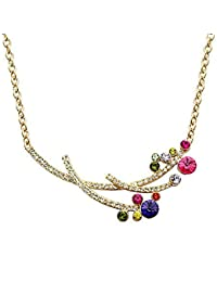 Triveni Moda chapados en oro collar N4