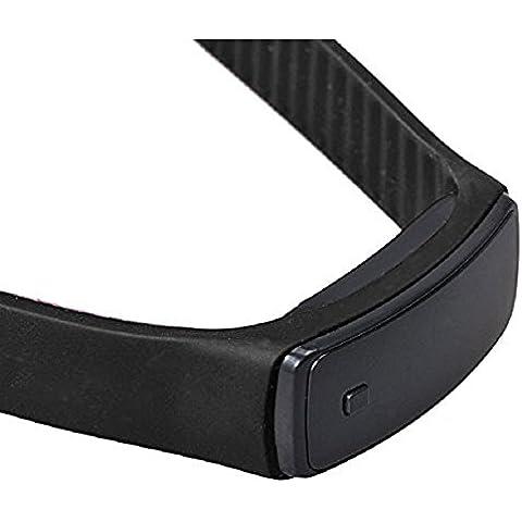 Digital LED Reloj de pulsera - SODIAL(R)Moda Ultra-delgada chica hombres silicona digital LED deportes reloj de pulsera (negro)