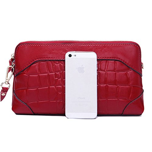 SUXCGE , Damen Schultertasche One Size Rose red 21408