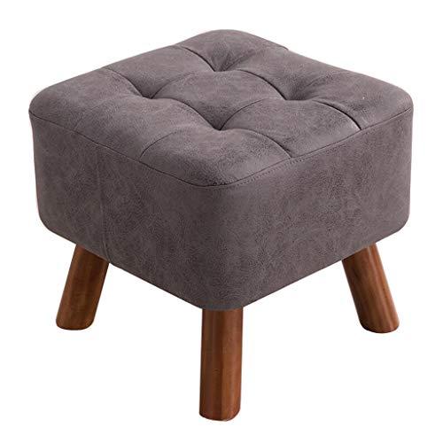 KAI LE Taburete, Asiento pequeño, Cambio de Zapatos Taburete de Madera Maciza Moda Sofá Creativo Sofá Mesa de café vestidor Taburete