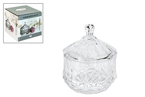 takestop® Bonboniere Süßigkeiten Mayte Glas Kristall Plätzchen Konfekt Gebäck in Glas mit Deckel Tafelaufsatz