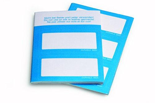 Durable Namensschild, Textil, selbstklebend, blau, 50 Stück, 8605-06