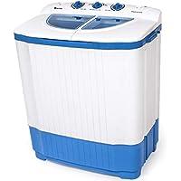 TecTake Mini machine a laver 4,5kg & essorer 3,5 kg Camping, studio et petites pièces