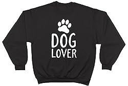 Dog Lover Paw Print Unisex Long Sleeve Jumper Sweater Sweatshirt