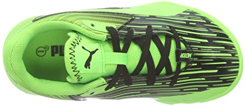 Puma Meteor Sala Lt Jr, Chaussures Multisport Indoor mixte enfant Noir - Schwarz (black-green gecko 06)