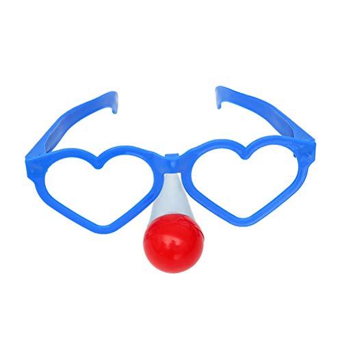 Amosfun 2 stücke Blinkt Lustige Herzförmige Joker Clown Gläser Karneval Kostüme Karneval Requisiten für Erwachsene Festliche Halloween Dress up Party Supplies Dekoration (Gelegentlich Orange und Blau)
