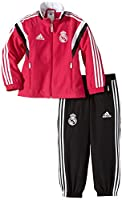 Official 2014-15 Real Madrid Kids Presentation Tracksuit, available to buy online in junior sizes small boys, medium boys, large boys, XL boys. This tracksuitA forms part of the Real Madrid 2014-15 training range and is manufactu...