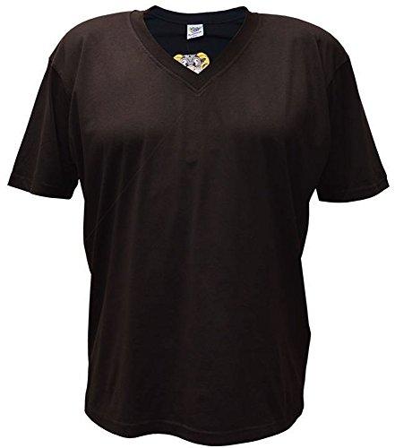 Übergrößen!! Tolles Basic T-Shirt RAMMBOCK in 8 Farben mit Stickerei V-Neck Schwarz