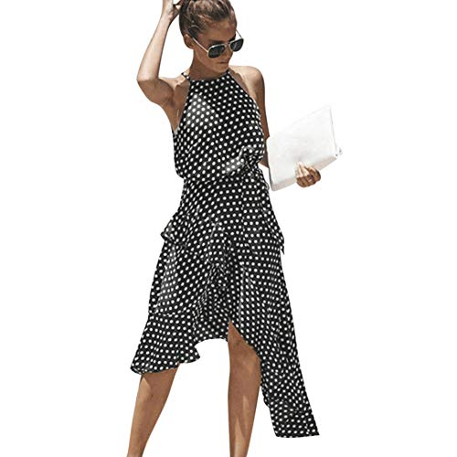 Vestido Mujer Verano 2019 Vestido Estampado De Lunares