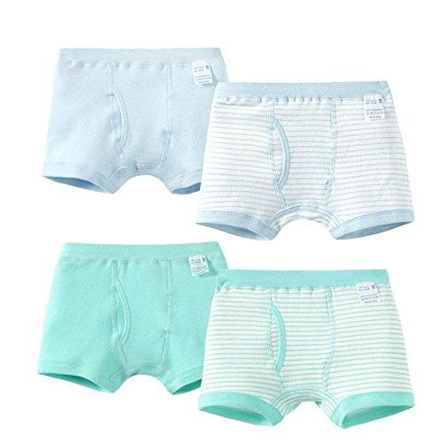 kinder - unterwäsche baumwolle 4 stück / kinder - unterwäsche aus baumwolle junge boxer unterwäsche slips vier boxen zufällige farbe (E) (Mädchen-boxer-kostüm)