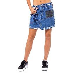 Desigual Falda Mujer Azul