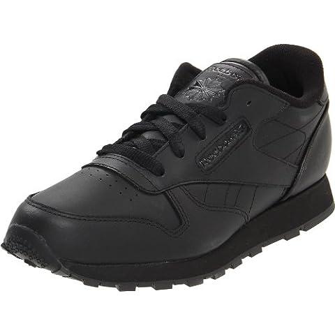 Reebok - Zapatillas de deporte de cuero para niño negro negro