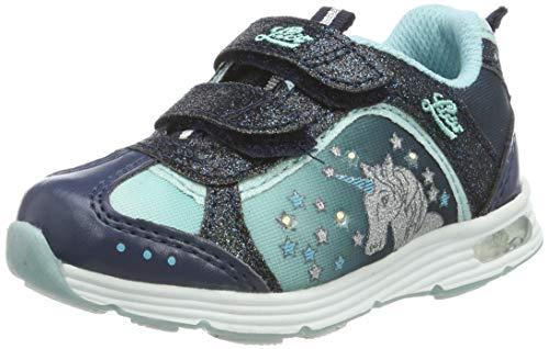 Lico Mädchen Unicorn V Blinky Sneaker, Blau Marine/Türkis, 30 EU