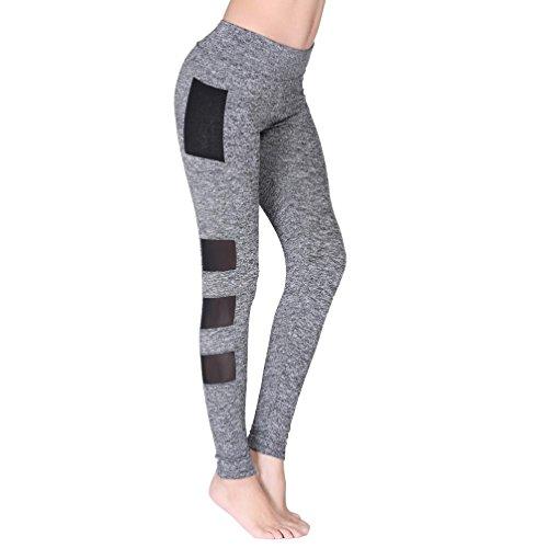 Heiß ! Laufende Hosen,Yanho Frauen zerquetschten Samt Damen Drucken Frau Höhe Taille Yoga Frauen Yoga Laufhose Cropped Leggings Hohe Taille Stretch Hose (Grau, L) (Cropped-stretch-leggings)