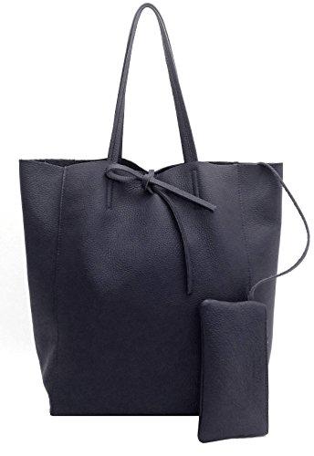 DEEP ROSE Borsa in Vera Pelle Donna Made in Italy a spalla mano shopper pelle con tracolla Bauletto da giorno modello ILARIA