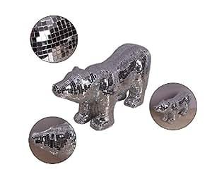 New day®-Moderno ed elegante nuovo ornamenti casa mosaico di specchio di vetro animali giacciono orso