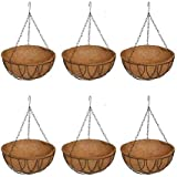 COIR GARDEN Coir Hanging Basket with Stand (12 Inch) 6 Pieces