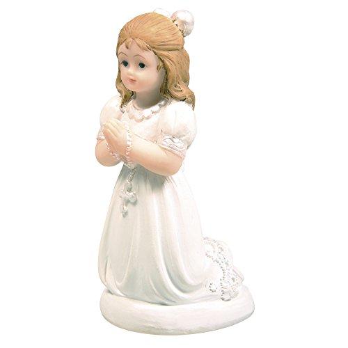 Rayher Hobby 56820000 Polyresin Kommunion Mädchen, 7 cm, kniend