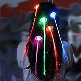 STOBOK Coloridas Pelucas led Que Brillan intensamente Flash led Pelo Trenzado Clip Horquilla decoración iluminar Mostrar Fiesta Suministros niños Juguetes del Partido 15pcs