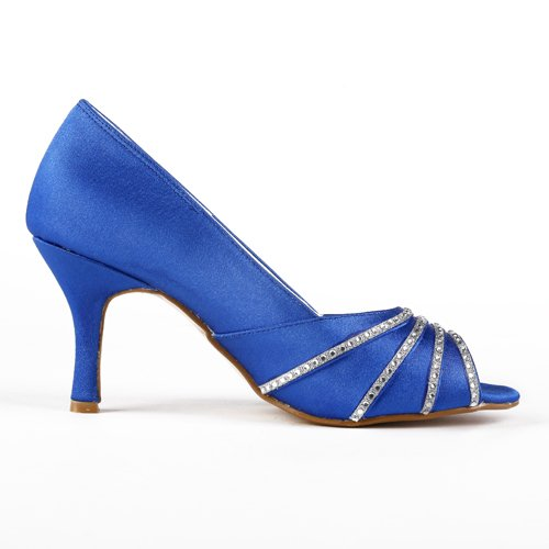 Jia Jia Wedding A31B36 Scarpe Sposa Scarpe col tacco donna Blue