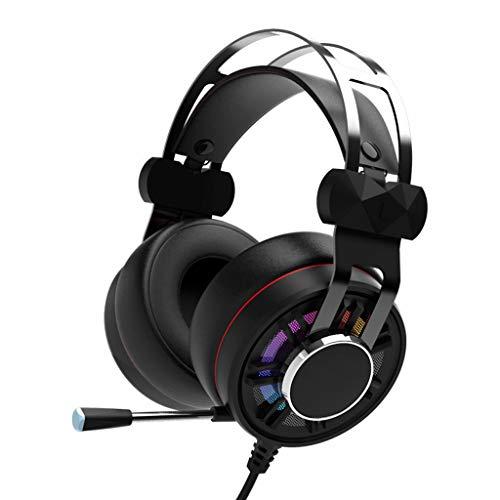 Liutao Kopfhörer 3,5 mm Stereo Wired Headset Gaming Headset mit Geräuschunterdrückung Mikrofon und Lautstärkeregler für Ohrmuff Gaming Headset für PC Mehrfarbig Wired Gaming Headset