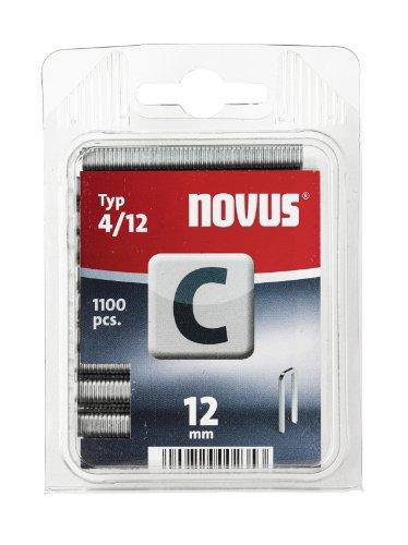 Novus 042-0389 Blister de 1100 Agrafes dos étroit 4/12 mm Rouge