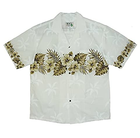 KY's Original Hawaiian Shirt, Breast Print, Hibiscus,