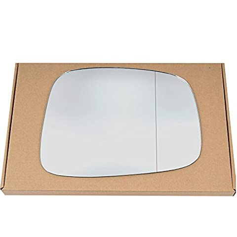 Wide Angle Right driver side Silver Wing mirror glass for Isuzu Rodeo 1999-2006