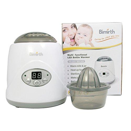 HopeU5 Elektrischer einzelner Baby-Flaschen-Wärmer, 5 in 1 genauer Temperaturüberwachung elektronische Baby-Flaschen-Wärmer für Erwärmungs-Milch und Glas, kochendes Ei, sterilisieren, erhitzen das Lebensmittel, bilden Saft, mit LCD-Anzeige