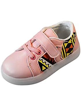 Igemy 1 Paar Baby Mode Sneakers LED leuchtende Kinder Kleinkind Beiläufige bunte helle Schuhe