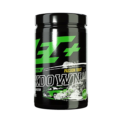ZEC+ Kickdown 2.0 Pre-Workout Booster, Trainingsbooster mit Aminosäuren (BCAAs), Arginin AKG, Creatinol-O-Phosphat, Betain, Citrullin-Malat & Ginseng Extrakt, 600 g Passion Fruit