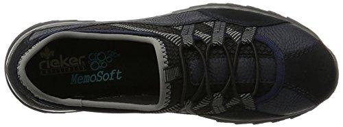 Rieker Damen M6251 Sneaker Blau (pazifik/pazifik/schwarz/schwarz/grey)