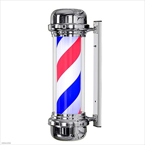 NYTYU 71CM LED Barbers Pole Hair Salon Logo Rotating Light Light Salon Shop Sign Wall Light,71x30cm